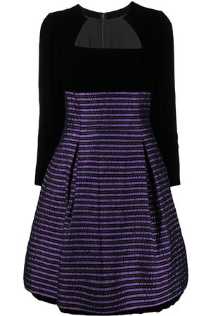 Dior 1990s pre-owned striped flared dress