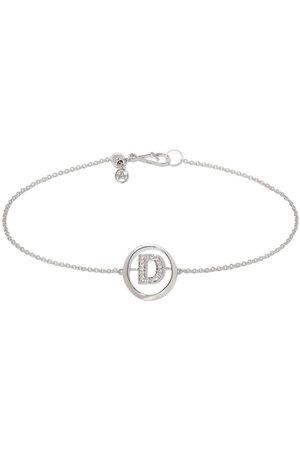 Annoushka 18kt white gold diamond Initial D bracelet
