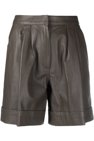 DESA 1972 High-rise leather shorts