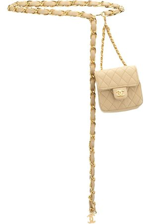 CHANEL 1990s diamond-quilted mini belt bag