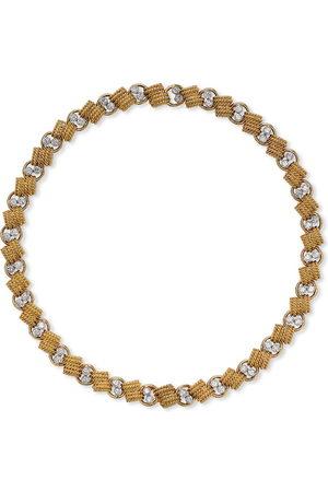Van cleef 1941 - 1960 pre-owned 18kt yellow link diamond choker