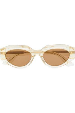Bottega Veneta Oval clear-frame sunglasses