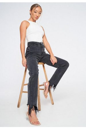 Missguided Petite Distressed Mom Jeans