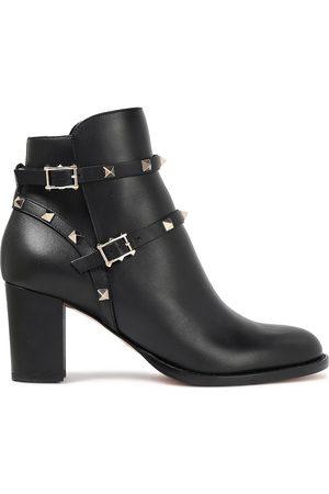 VALENTINO GARAVANI Woman Rockstud Leather Ankle Boots Size 35
