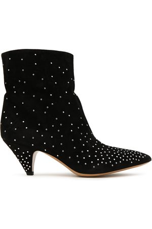 VALENTINO GARAVANI Woman Studded Suede Ankle Boots Size 36