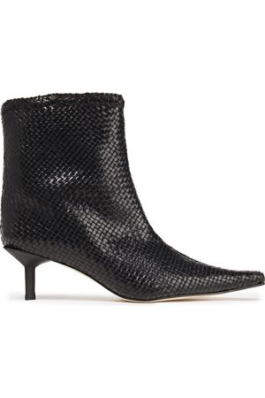 Miista Women Ankle Boots - Woman Shelly Woven Leather Ankle Boots Size 35