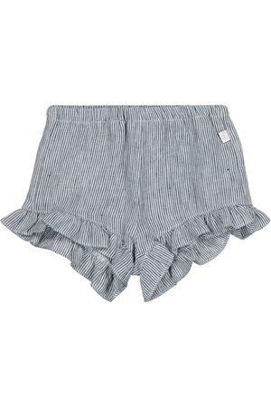 Il gufo Baby pinstriped linen shorts