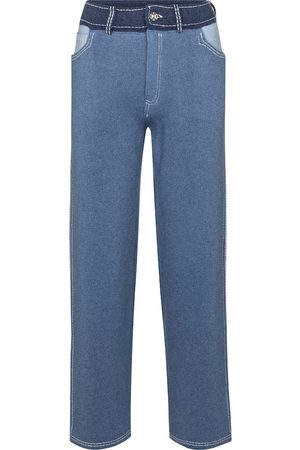 Barrie Cashmere and cotton wide-leg pants