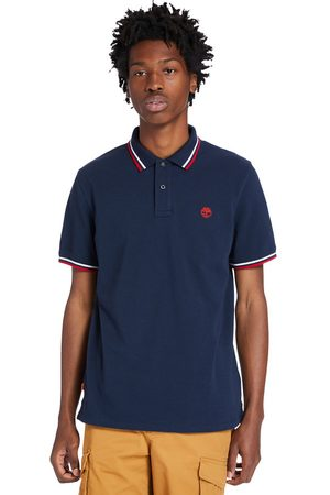Timberland Men Polo Shirts - Millers river tipped polo shirt for men in navy navy, size 3xl