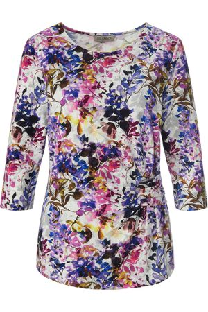 Uta Raasch Top 3/4-length sleeves and floral motif multicoloured size: 10