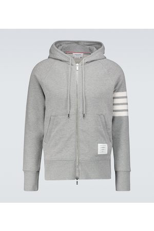 Thom Browne Zipped 4-Bar hooded sweatshirt