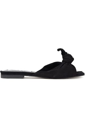 McQ Women Sandals - Woman Knotted Suede Slides Size 35