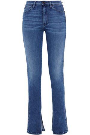 3x1 Women Skinny - Woman Faded High-rise Skinny Jeans Mid Denim Size 24