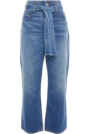 3x1 Women Straight - Woman Kelly Belted High-rise Straight-leg Jeans Mid Denim Size 26