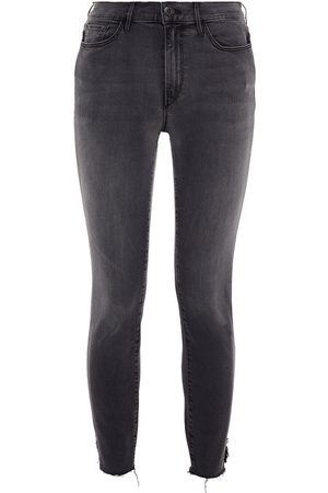 3x1 Women Skinny - Woman Cropped Mid-rise Skinny Jeans Size 25