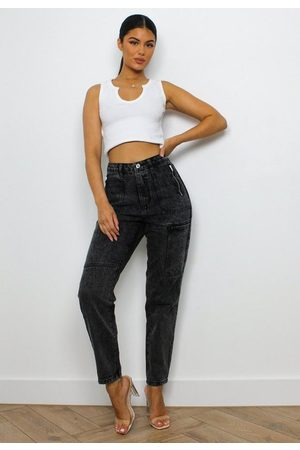 Missguided Utility Zip Pocket Mom Jeans