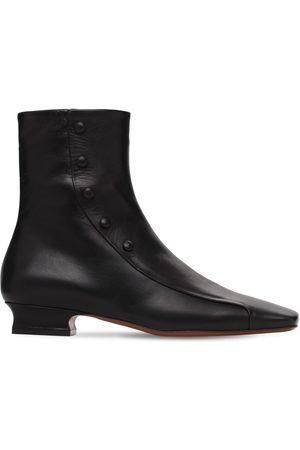 MANU 30mm Duck Leather Ankle Boots