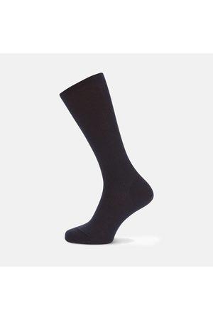 Turnbull & Asser Deep Navy Mid-Length Merino Wool Socks