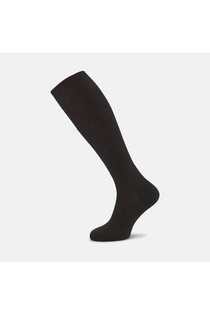 Turnbull & Asser Chocolate Long Merino Wool Socks