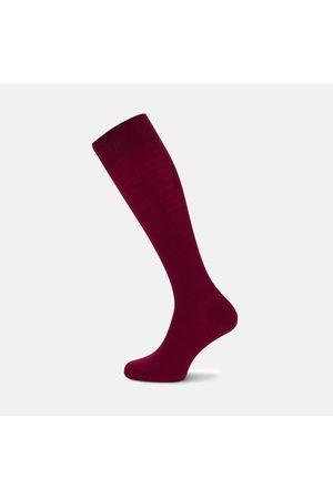 Turnbull & Asser Bordeaux Long Merino Wool Socks