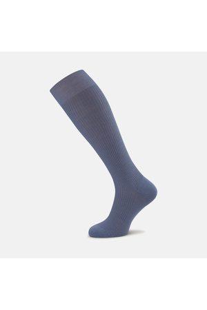 Turnbull & Asser Smoke Long Merino Wool Socks