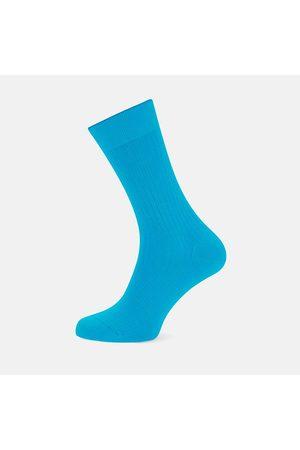 Turnbull & Asser Turquoise Short Cotton Socks