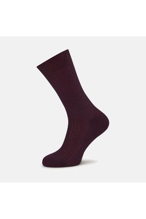 Turnbull & Asser Burgundy Short Cotton Socks