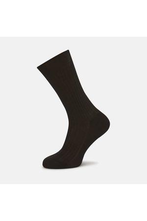 Turnbull & Asser Chocolate Short Cotton Socks