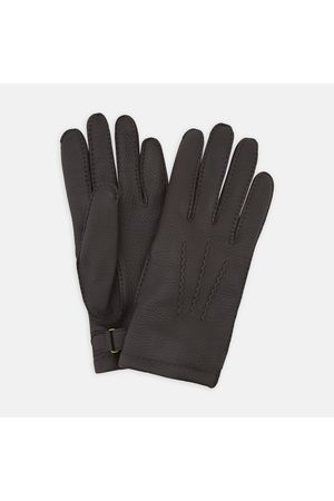 Turnbull & Asser Dark Kirkdale Leather Gloves