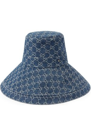 Gucci Women Hats - Eco washed denim wide brim hat