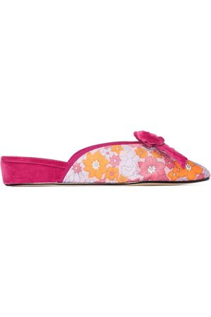 Olivia Morris At Home Daphne floral-print slippers