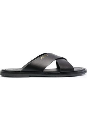 Bally Men Sandals - Criss-crossed leather slides