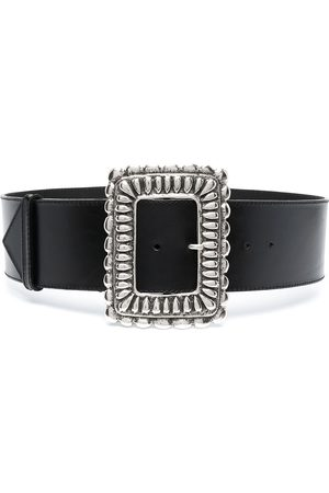 Etro Ornate-buckle leather belt