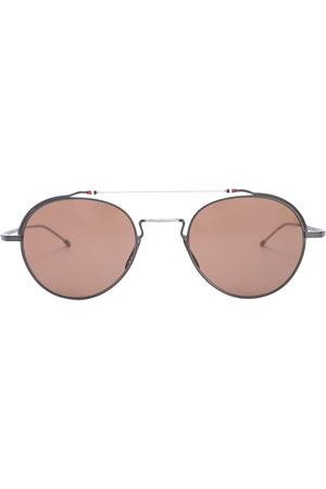 Thom Browne TBS912 aviator-frame sunglasses - iron
