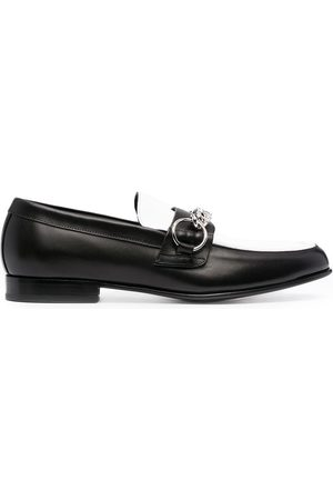 Burberry Chain-detail leather loafers
