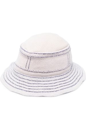 Barrie Contrast stitching bucket hat - Neutrals