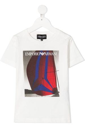 Emporio Armani Boys Short Sleeve - Sailing logo T-shirt
