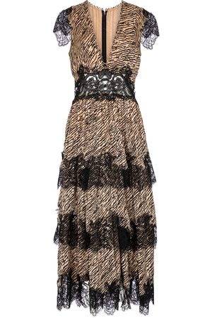 Costarellos Daralisa tiger-print chiffon maxi dress