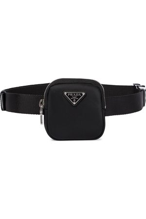Prada Nylon and canvas pouch belt