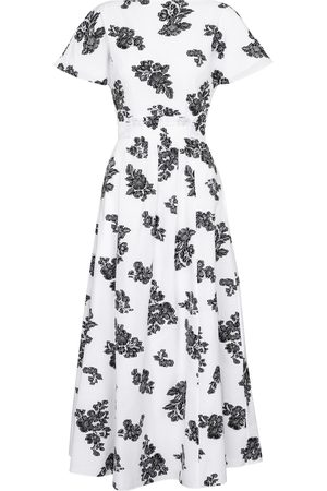 Erdem Fraser floral fil coupé midi dress
