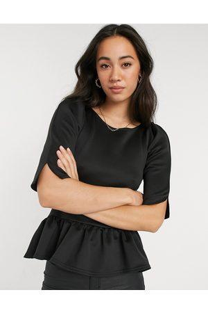 Closet Peplum short sleeve top in