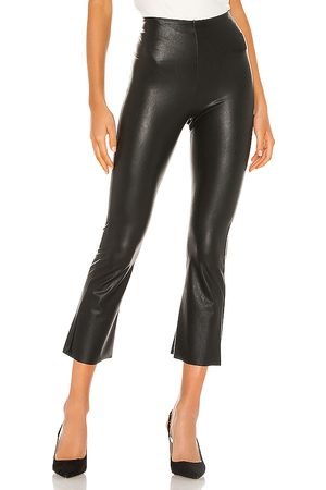 Commando Faux Leather Cropped Flare Pant in . Size S.