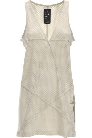 Rick Owens Women Casual Dresses - Champion V Neck Jersey Mesh Tunic Dress