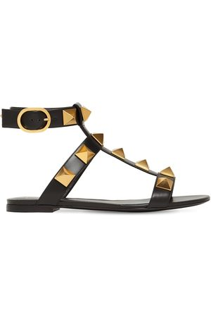 VALENTINO GARAVANI Women Sandals - 10mm Roman Stud Leather Sandals