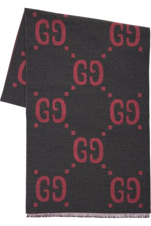 Gucci Wool & Silk Jacquard Gg Scarf