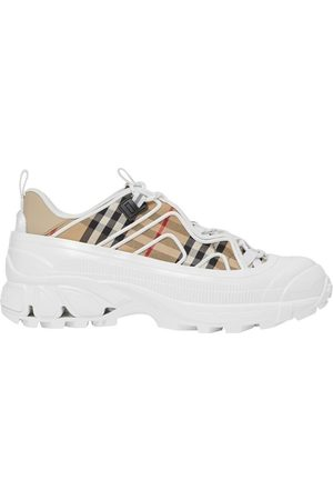 Burberry Vintage Check Cotton And Leather Arthur Sneakers