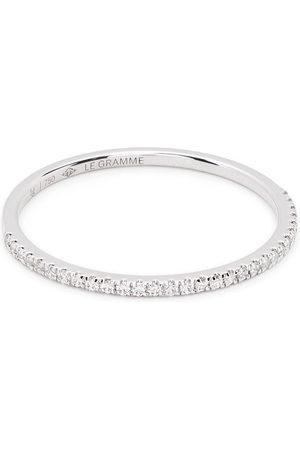 Le Gramme Rings - 18kt white gold 1g diamond half pavé ring