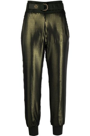 Mr & Mrs Italy Cropped sequin trousers