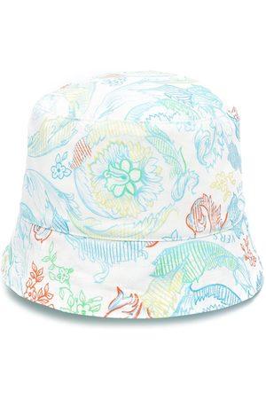 VERSACE Floral-print bucket hat