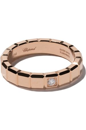 Chopard Rings - 18kt rose gold Ice Cube diamond ring